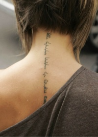 Hebrew tattoo for young girls